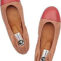 Authentic Lanvin Bi-Color Ballerinas Flats Shoes Sz 37.5 Photo