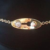Authentic Lanvin Metallic Gold Tone Chain Belt / Necklace With Stone Detail Photo