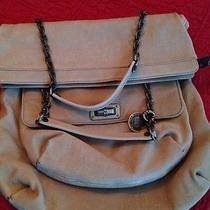 Authentic Lanvin Tan Leather Double Chainlink Strap Tote Shoulderbag Photo