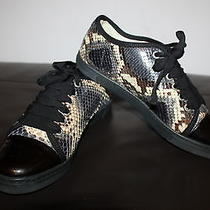 Authentic Lanvin Womens Sneakers Python / Patent Leather Size 37 Photo