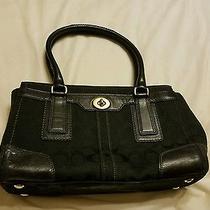 Authentic Large Coach Handbag - Black  Photo