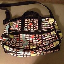 Authentic Large Lesportsac Large Weekender Bag 148 Photo