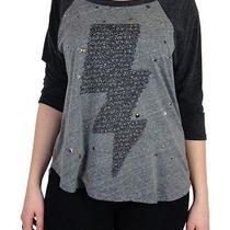 Authentic Lauren Moshi Stud Lightning Bolt 3/4 Sleeve Dolman Top Xs/s One Size Photo