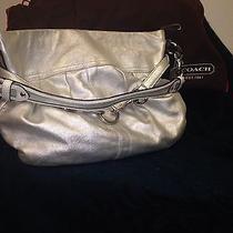 Authentic Leather Coach Satchel Silver Handbag Photo