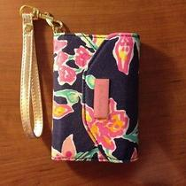 Authentic Lilly Pulitzer Ring Me Up Wristlet Bright Navy Iphone  Photo