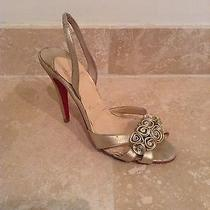 Authentic Louboutin Gold Sandals Photo