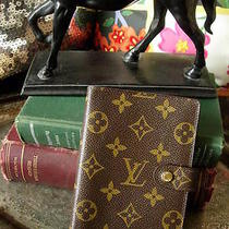 Authentic Louis  Vuitton 6 Ring Notebook Portfolio Desk Agenda Accessory Lv  Photo