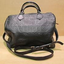 Authentic Louis Vuitton Black Leather