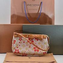 Authentic  Louis Vuitton Cherry Blossom Chair Pochetteaccessoires M92008 S254 Photo