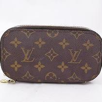 Authentic Louis Vuitton Cosmetic Pouch Trousse Blush Browns Monogram 102654 Photo