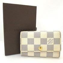 Authentic Louis Vuitton Damier Azur 6 Ring Key Holder Case N61745 Est3318 Photo