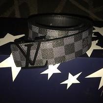 Authentic Louis Vuitton Damier Graphite Belt Men's Size 48/120 Photo
