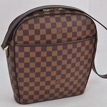 Authentic Louis Vuitton Damier Ipanema Gm Shoulder Bag N51292 Lv 5887 Photo