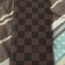 Authentic Louis Vuitton Damier Long Checkbook / Credit Card / Wallet - Good Gift Photo