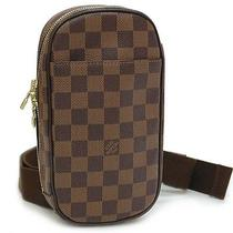 Authentic Louis Vuitton Damier Pochette Gange Hip Bag