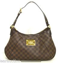 Authentic Louis Vuitton Damier Thames Gm N48181 Ebene Shoulder Bag Mi0059 Photo