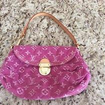 Authentic Louis Vuitton Denim Mini Pleaty Bag Photo