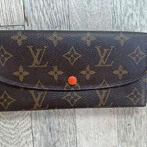 Authentic Louis Vuitton Emilie Wallet W/boxdust Cover Photo