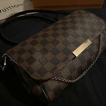 Authentic Louis Vuitton Favorite Mm Damier Ebene Crossbody Bag W/ Dust Bag & Box Photo