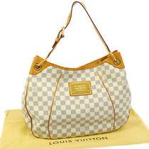 Authentic Louis Vuitton Galliera Pm Shoulder Bag Hobo Damier Azur N55215 Jt05358 Photo