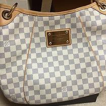 Authentic Louis Vuitton Galliera Pm Shoulder Hobo Bag Damier Azur Photo
