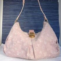 Authentic Louis Vuitton Lv Pink Denim Mahina Hobo Bag W/dust Bag Photo
