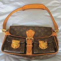 Authentic Louis Vuitton M40027 Monogram Hudson Brown Canvas Shoulder Bag Photo