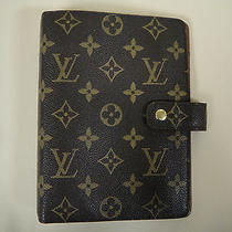 Authentic Louis Vuitton Medium Monogram Agenda Planner  Photo