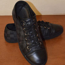 Authentic Louis Vuitton Men's  Punchy Graphite Damier Sneakers in Size 8  Photo
