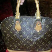Authentic Louis Vuitton  Monogram  Alma Handbag Bag Photo