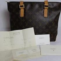 Authentic Louis Vuitton Monogram Cabas Piano Handbag Photo