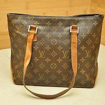 Authentic Louis Vuitton Monogram Cabas Piano Shoulder Tote Bag Shopper Handbag Photo