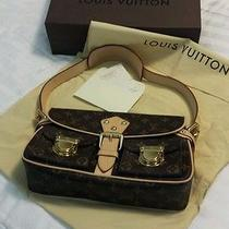 Authentic Louis Vuitton Monogram Canvas and Leather Hudson Shoulder Bag Photo