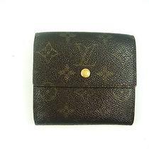 Authentic Louis Vuitton Monogram Canvas Leather Mini Wallet 5 Photo