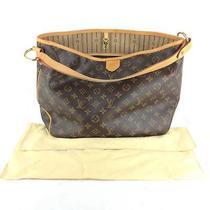 Authentic Louis Vuitton Monogram Delightful Shoulder Tote Bag With Dust Bag Photo
