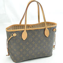 Authentic Louis Vuitton Monogram Neverfull Pm Tote Bag M40155 Lv F133 Photo