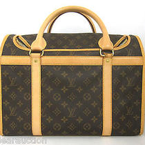 Authentic Louis Vuitton Monogram Sac Chien M42024 Boston Bag Th0066 Photo