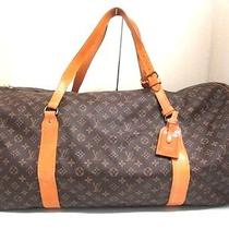 Authentic Louis Vuitton Monogram Sac Polochon M41222 Boston Bag 872a2 Photo