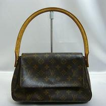 Authentic Louis Vuitton Monogram Shoulder Bag Hobo Mini Looping 870 Photo