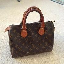 Authentic Louis Vuitton Monogram Speedy 25 Handbag Purse Photo