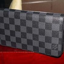 Authentic Louis Vuitton N63095 Zippy Wallet-Vertical Damier Graphite Canvas Photo
