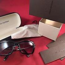 Authentic Louis Vuitton Poppy Sunglasses Metal /plastic Black /gray With Case  Photo