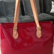Authentic Louis Vuitton Red Vernis Brentwood Tote Bag Photo