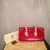 Authentic Louis Vuitton Rosewood Avenue Shoulder Bag Monogram Vernis Red Photo
