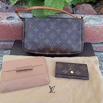 Authentic Louis Vuitton Sd0081 Pouch & Key Holder W/ Lv Dustbag Photo