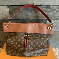Authentic Louis Vuitton Tuileries Hobo Caramel Monogram Handbag Photo