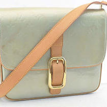 Authentic  Louis Vuitton Vernis Christie Gm Gris Shoulder Bag M91148 328  Photo