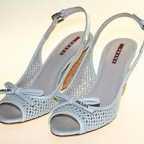 Authentic Luxury Prada Sandals Shoes 3kz006 Talco Nib Us 9 Eu 39 395 Uk 6 Photo