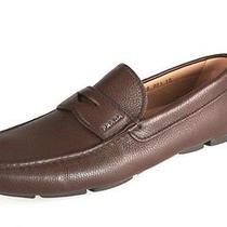 Authentic Luxury Prada Slipper Shoes 2dd001 Brown New Uk 10.5 Photo