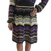 Authentic M Missoni Multicolor Long Sleeve Knit Dress  (It 46) Photo